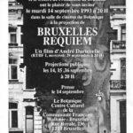"""3. Flyer annonçant la projection de """"Bruxelles Requiem"""", conservé par M.H. depuis 1993."""