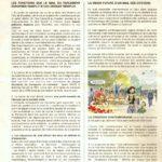 Deuxième feuillet du supplément de sept. 2001 de La vie La ville, périodique publié par l'AQL.