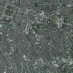 Photo aérienne du quartier européen, par l'IGN