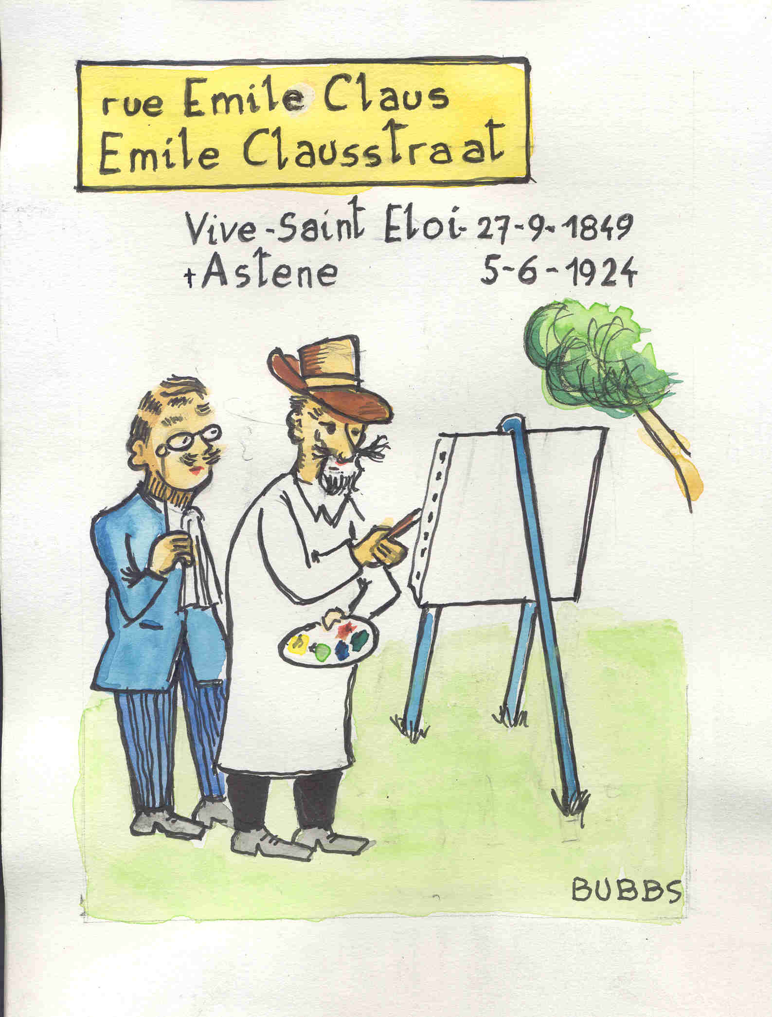 Rue Emile Claus. Bubbs.