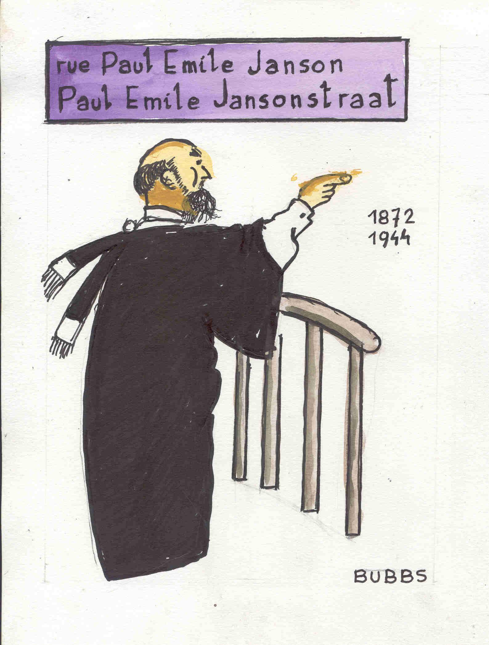 Rue Paul Emile Janson. Bubbs.
