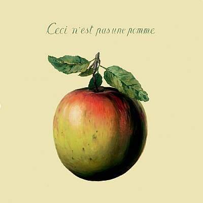 Ceci n'est pas une pomme . René Magritte