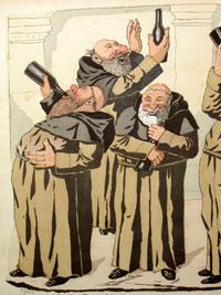 caricature anticléricale / fin XIX ème