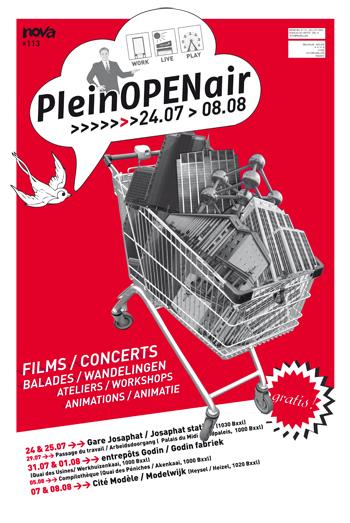 L'affiche du PleinOPENair 2009