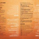 dimanche 4 octobre, le programme