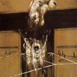 "BACON ""Fragment d'une crucifixion"" 1950"