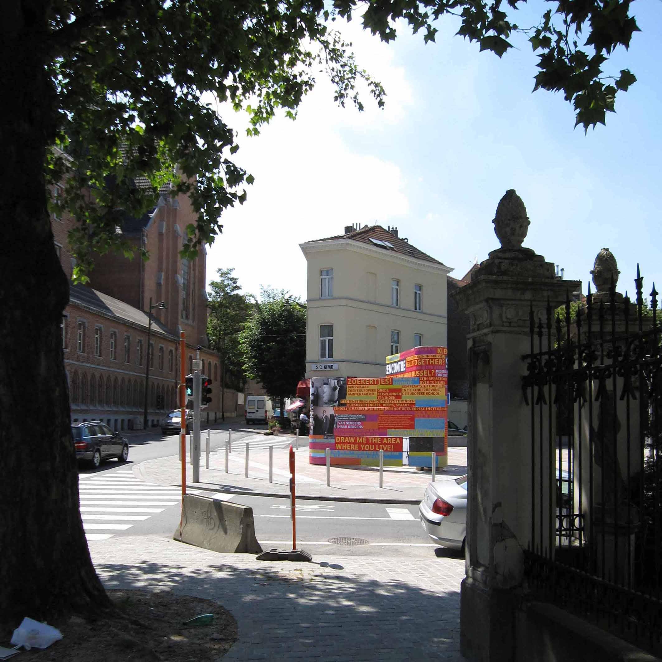 Une station du Parcours européen.
