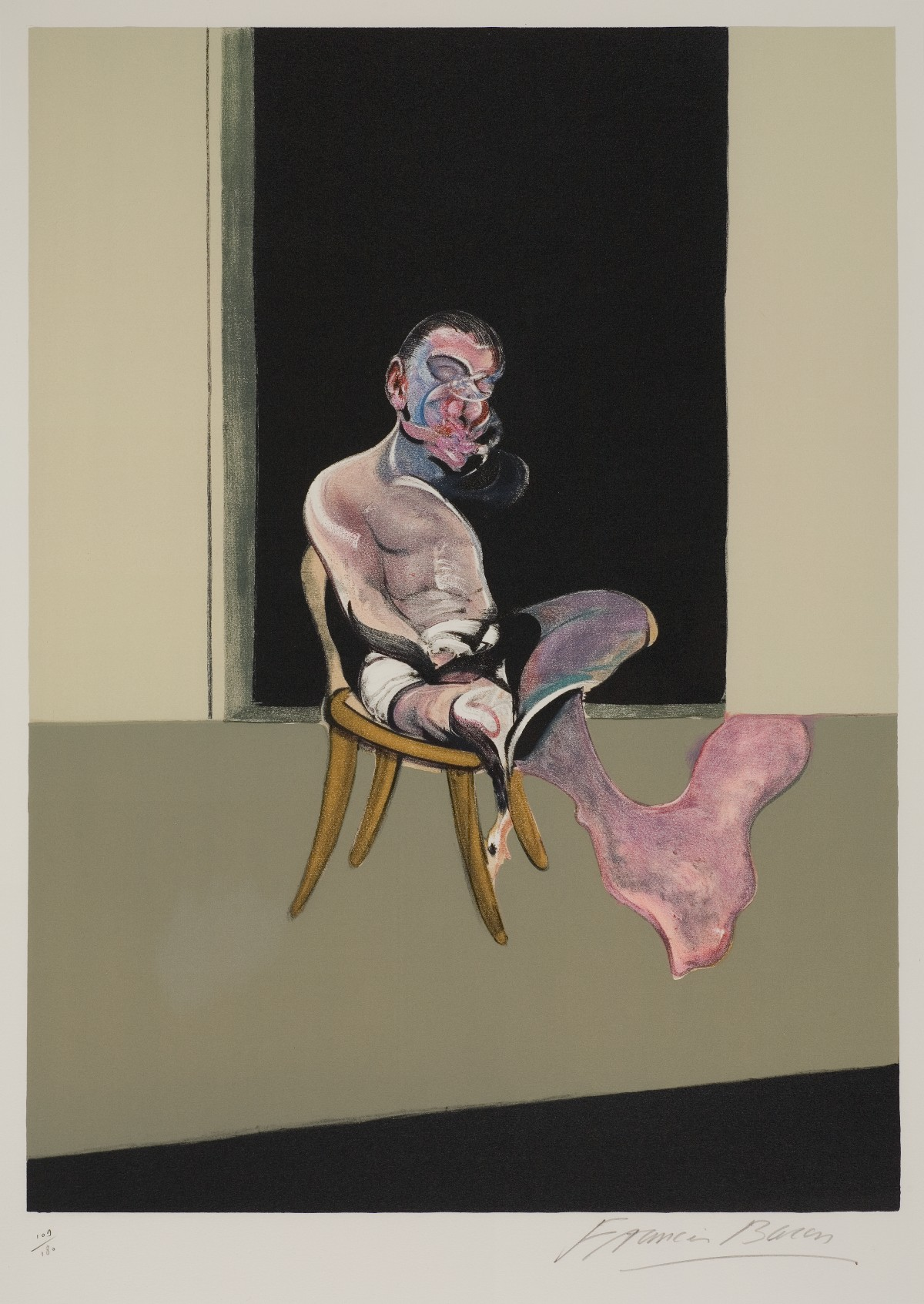 Francis Bacon, élément central  de Tryptique