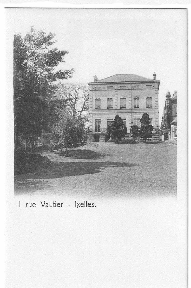 1 rue Vautier, Ixelles, carte postale de 1978.