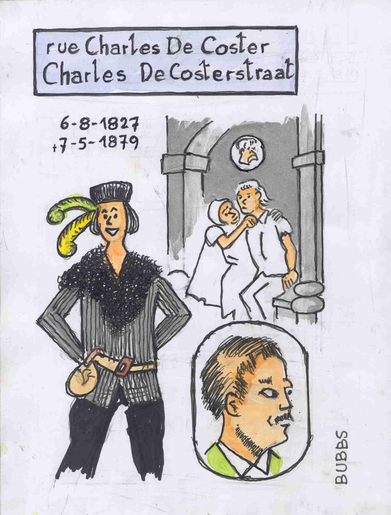 Rue Charles De Coster. Bubbs.
